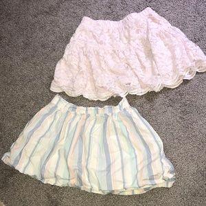 Girls 4t lace light pink & girls 5t striped skirt